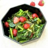 June: Spinach and Strawberries