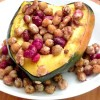 Cranberry Chickpea Stuffed Squash