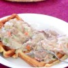 Turkey in Cream Sauce with Waffles