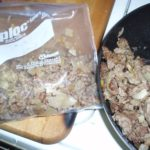 Convenient Food: Browned ground meat with onion