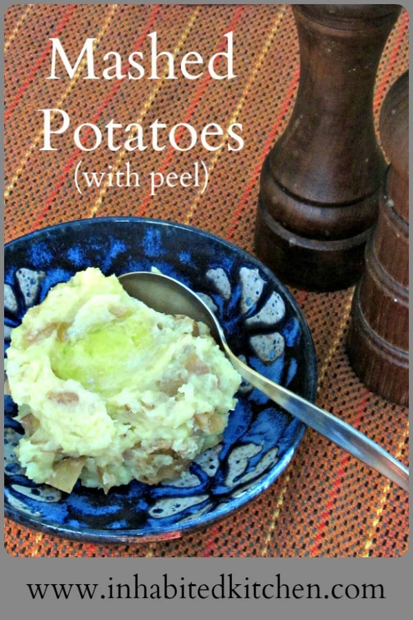 Mashed potatoes with peel and a little Greek yogurt are easy and tasty, and do contribute to the nutrition in a meal.Comfort food at its best! #potatoes #caregiving