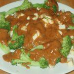 Peanut Sauce, over Tofu and Broccoli, and Tofu Tutorial