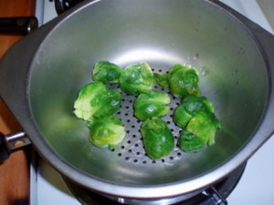Steaming Brussels Sprouts