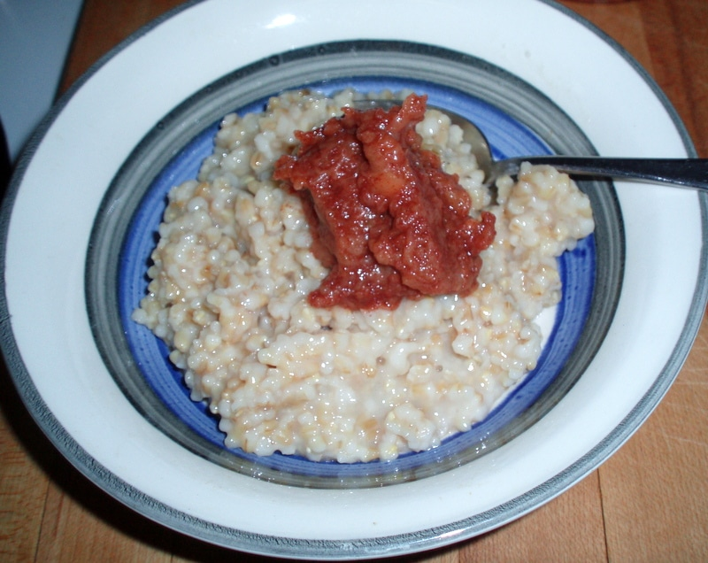 Apple Butter on Oatmeal