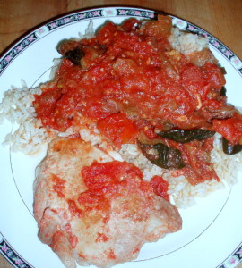 Pork Chops Braised with Tomatoes - Inhabited Kitchen