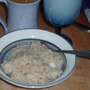 Hot oatmeal... mmm...