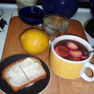 Lunch - Black bean soup
