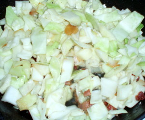 Cabbage in pan
