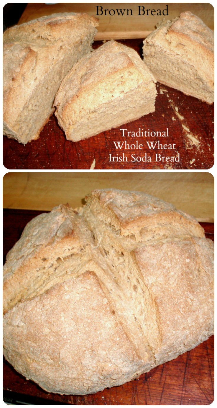 Brown Bread - Traditional whole wheat Irish Soda Bread