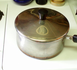 Covered pan, off heat - cooking eggs - inhabitedkitchen.com