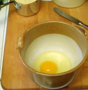 Egg in bowl - wwww.inhabitedkitchen.com