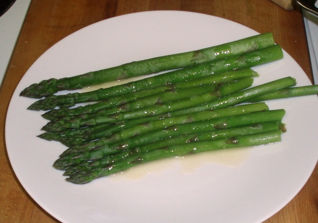 Asparagus with lemon butter sauce - www.inhabitedkitchen.com
