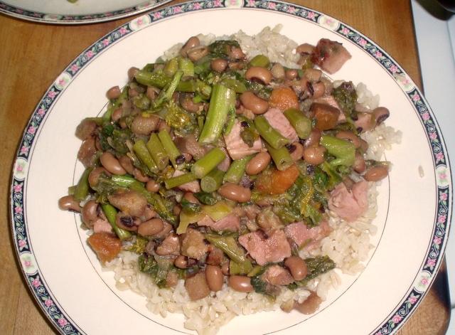 Ham, beans and greens - www.inhabitedkitchen.com