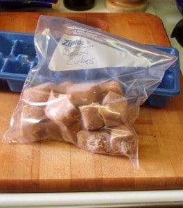 Roux cubes, packaged for freezer - inhabitedkitchen.com