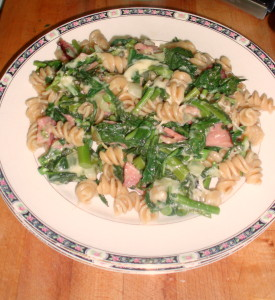 Broccoli Rabe, Ham, and Cheese Pasta - www.inhabitedkitchen.com