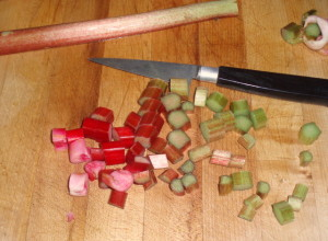 Cutting rhubarb - www.inhabitedkitchen.com