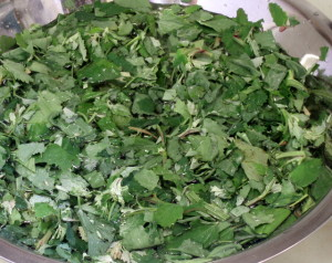 Greens in sink - www.inhabitedkitchen.com