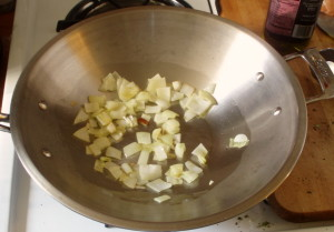 onions in pan - www.inhabitedkitchen.com
