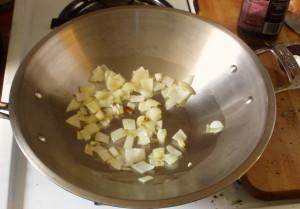 onions in pan - www.inhabitedkitchen.com