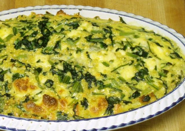 Spinach and Cheese Casserole - www.inhabitedkitchen.com