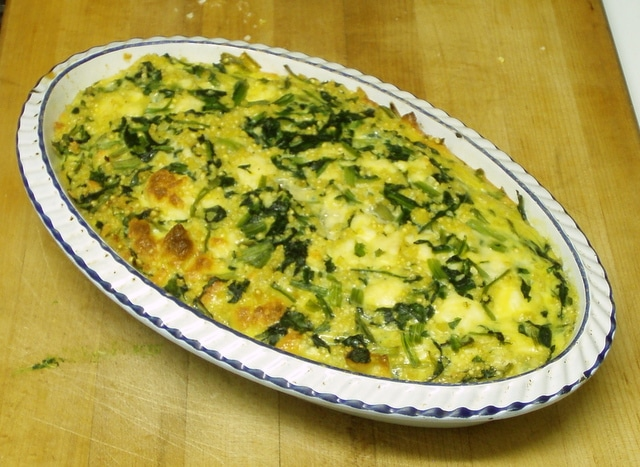Spinach casserole - www.inhabitedkitchen.com