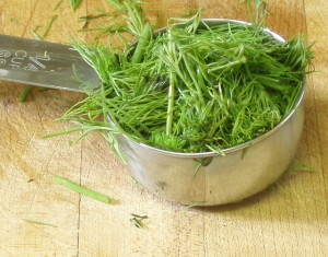 Chopped dill - www.inhabitedkitchen.com