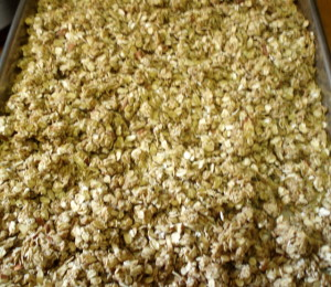Homemade Granola, ready to bake - www.inhabitedkitchen.com