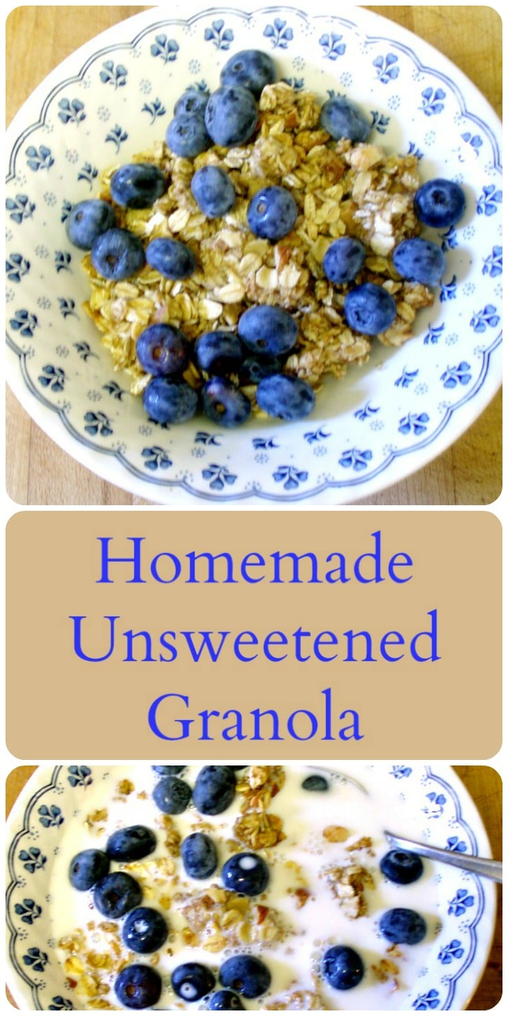 Making delicious homemade unsweetened granola is easy and doesn't take much time - I can save money and know what I am eating!