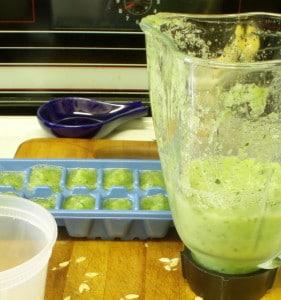Pureeing cucumbers - www.inhabitedkitchen.com