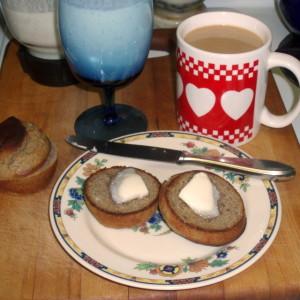 Breakfast - mint lassi and muffins - wwww.inhabitedkitchen.com