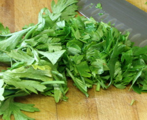 Chopping herbs - www.inhabitedkitchen.com