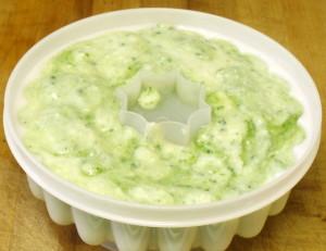 Cucumber Mousse in mold - www.inhabitedkitchen.com