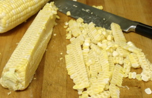 Cutting Corn Off the Cob - www.inhabitedkitchen.com