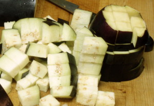 Diced eggplant - www.inhabitedkitchen.com