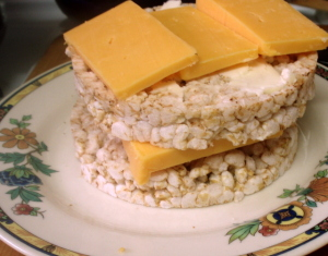 Rice cakes and cheese - www.inhabitedkitchen.com