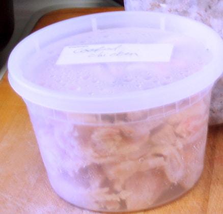Cooked chicken, ready to use - www.inhabitedkitchen.com