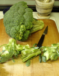 Broccoli - and extra stems - www.inhabitedkitchen.com