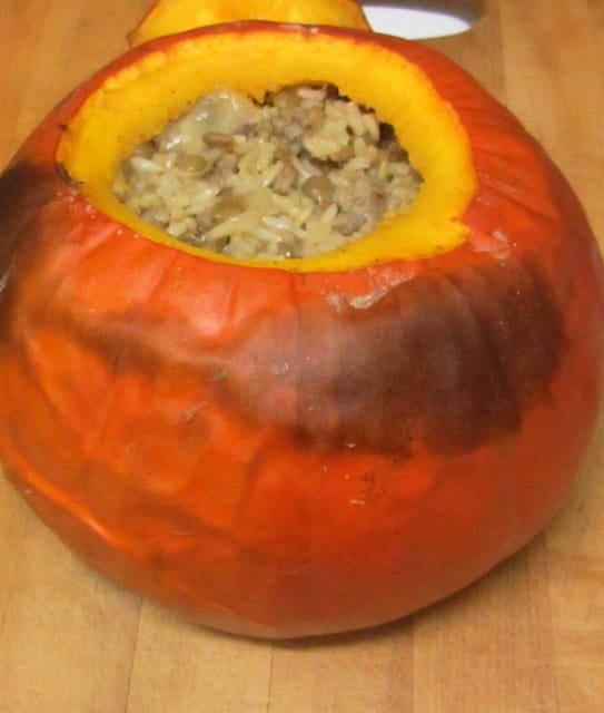 Roasted Stuffed Pumpkin - www.inhabitedkitchen.com