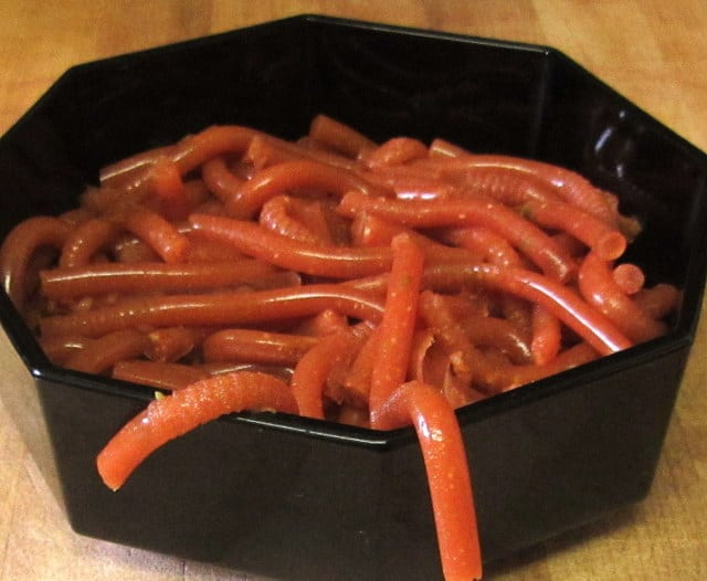 Savory worms for Halloween - Inhabited Kitchen