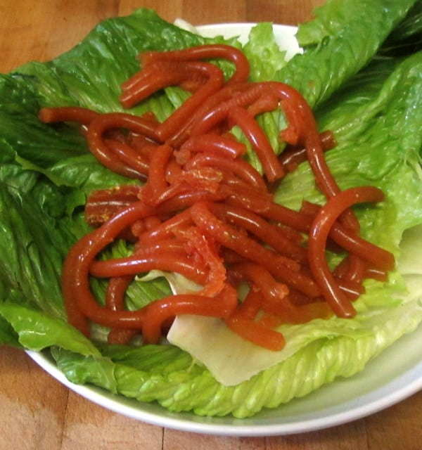 Savory worm salad - www.inhabitedkitchen.com