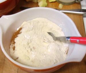 Mixing dry ingredients for muffins - www.inhabitedkitchen.com