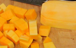 Butternut squash, peeled and cubed - www.inhabiteddkitchen.com
