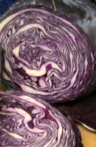 Cut red cabbage - www.inhabitedkitchen.com