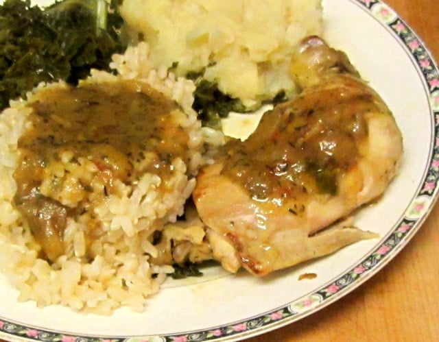 Chicken with easy herb gravy