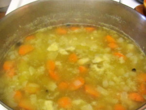 Pea Soup in the pot - www.inhabitedkitchen.com