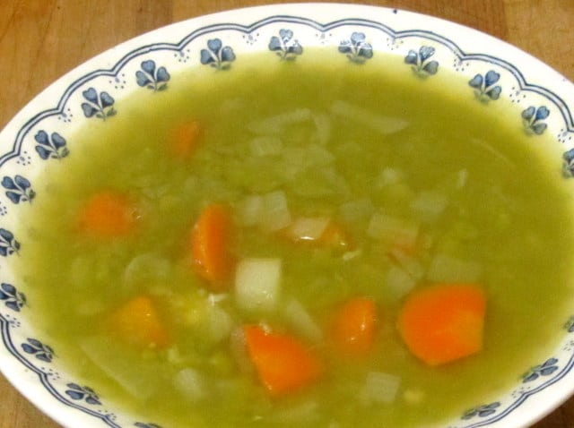 Vegetarian Split Pea Soup, an easy warm and comforting meal - www.inhabitedkitchen.com