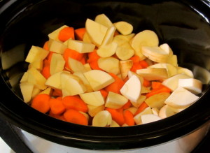Root Vegetables in slow cooker - www.inhabitedkitchen.com