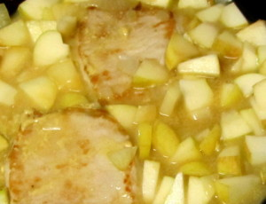 Pork simmering with apples and mustard - www.inhabitedkitchen.com