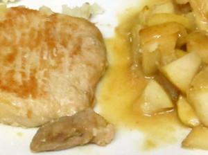 Pork chop simmered with apples - www.inhabitedkitchen.com