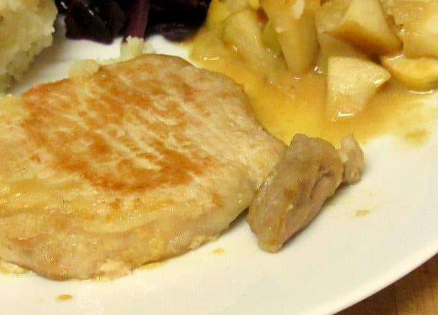 Pork chop braised with apples and mustard - www.inhabitedkitchen.com